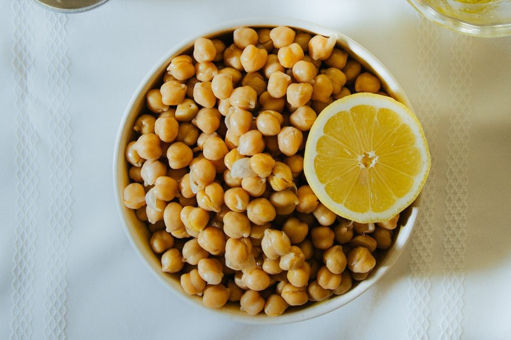Chickpeas are the central ingredient in hummus.